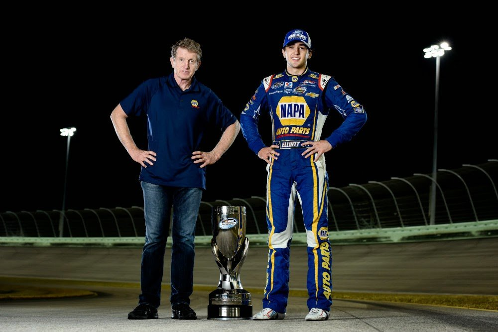 elliott chase bill nationwide series throwback scheme championship champion napa nascar champ cup fast facts racing