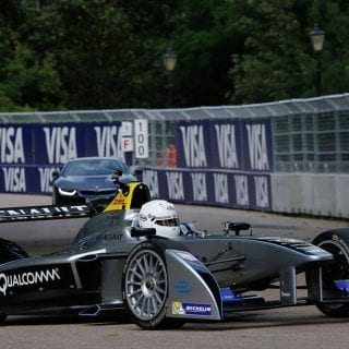 London Mayor Boris Johnson Drives Formula E Car