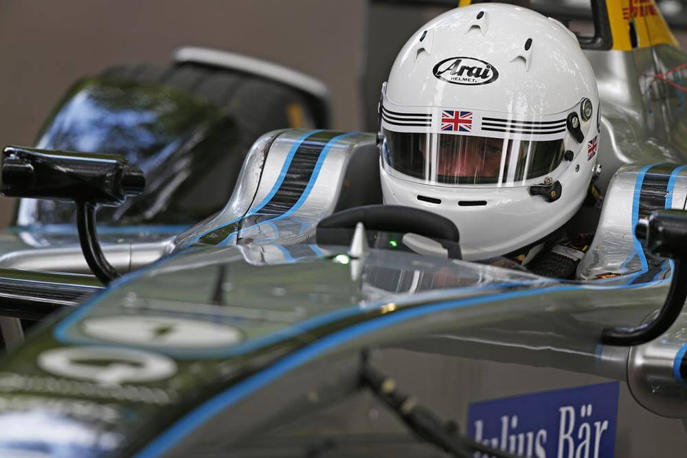 London Mayor Boris Johnson Drives Formula E Car Photos