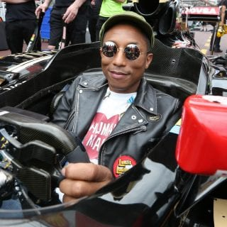 Pharrell Williams Lotus F1 Sponsor Photos