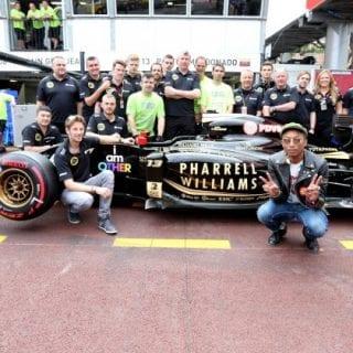 Pharrell Williams Lotus F1 Sponsor I am other