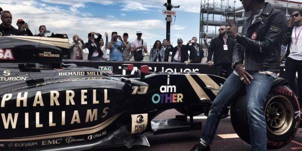 Pharrell Williams Lotus F1 Sponsor