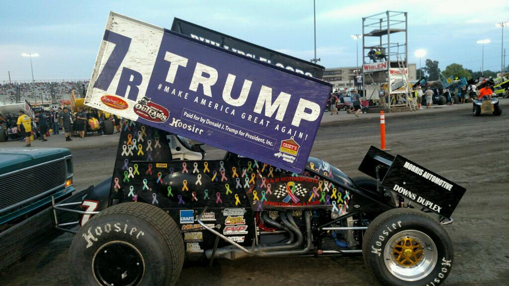 Donald Trump Sprint Car Racing Photos