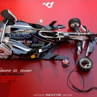 Artist Matúš Procháczka 2035 Dallara DW30 Indycar Chassis Will Power