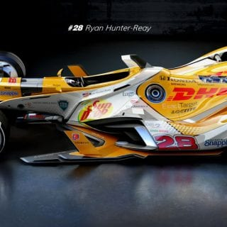 Artist Matúš Procháczka Creates 2035 Dallara DW30 Indycar Chassis Ryan Hunter-Reay Future Car