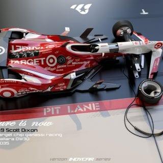 Artist Matúš Procháczka Creates 2035 Dallara DW30 Indycar Chassis Scott Dixon Photos
