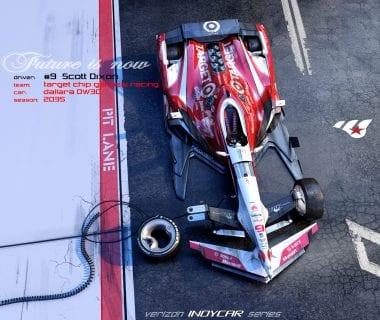 Artist Matúš Procháczka Creates Possible 2035 Dallara DW30 Indycar Chassis Scott Dixon Chip Ganassi