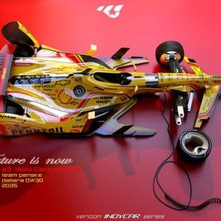 Artist Matúš Procháczka Helio Castroneves 2035 Dallara DW30 Indycar Chassis