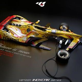 Artist Matúš Procháczka Helio Castroneves Future 2035 Dallara DW30 Indy Chassis