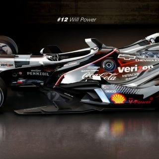Artist Matúš Procháczka Will Power Future 2035 Dallara DW30 Indycar Chassis