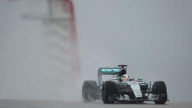Hurricane Weather Hits United States Grand Prix Mercedes Rain