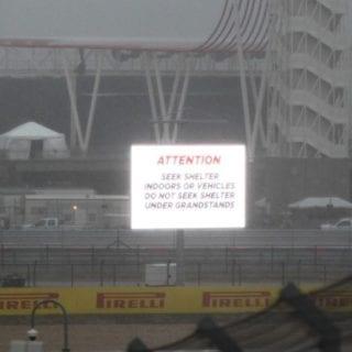Hurricane Weather Hits United States Grand Prix Seek Shelter