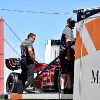 Indy Cars Drive Golden Gate Bridge 360 Video