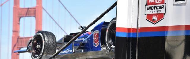 Indy Cars Drive Golden Gate Bridge Video