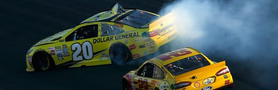 Joey Logano Spins Matt Kenseth to Win