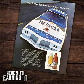 Busch Beer Retro NASCAR Advertisement