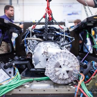 1000mph Bloodhound SSC Engine Install