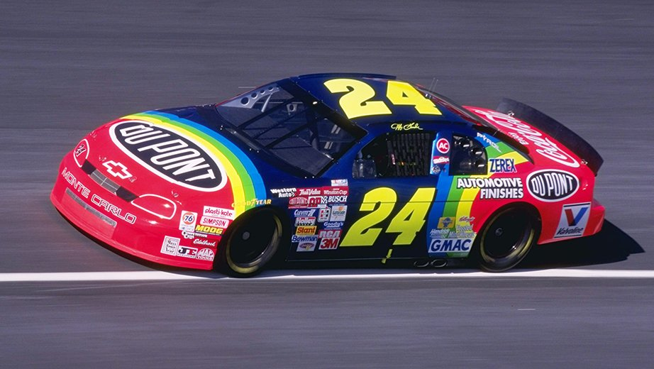 1996 Jeff Gordon Dupont Paint Scheme