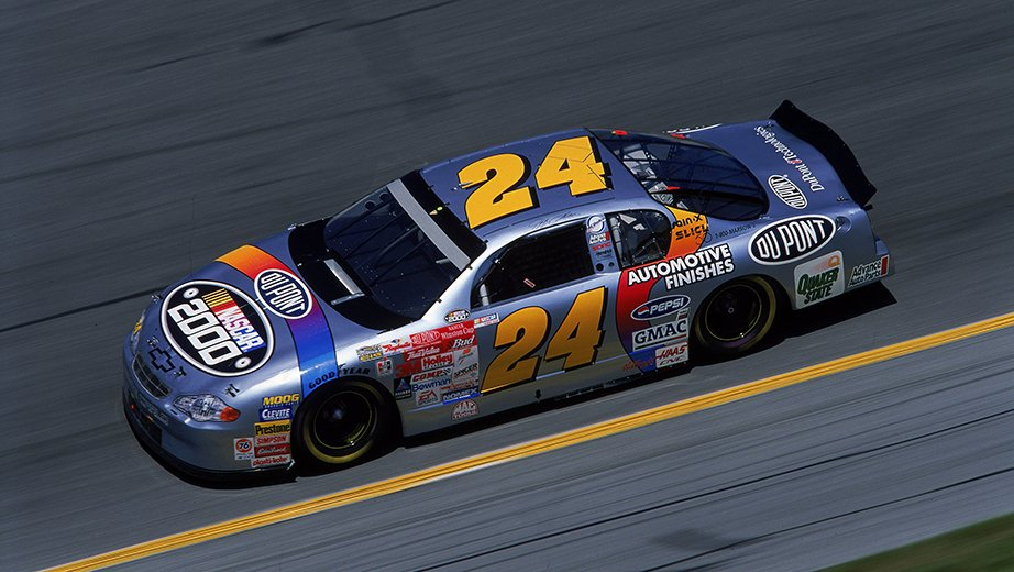 2000 Jeff Gordon Dupont Silver Metallic Paint Scheme