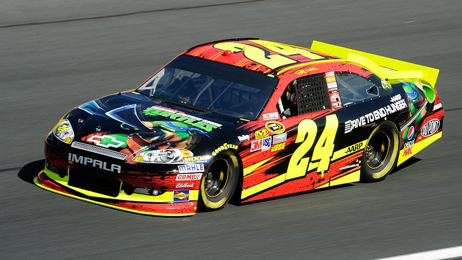 2012 Jeff Gordon Teenage Mutant Ninja Turtles Paint Scheme