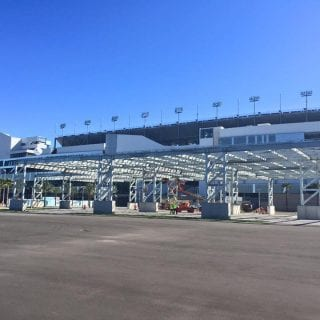 Daytona International Speedway FPL Solar Pavilion Daytona Rising Project Photos