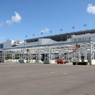 Daytona International Speedway Solar Panels Installed Daytona Rising Project Photos