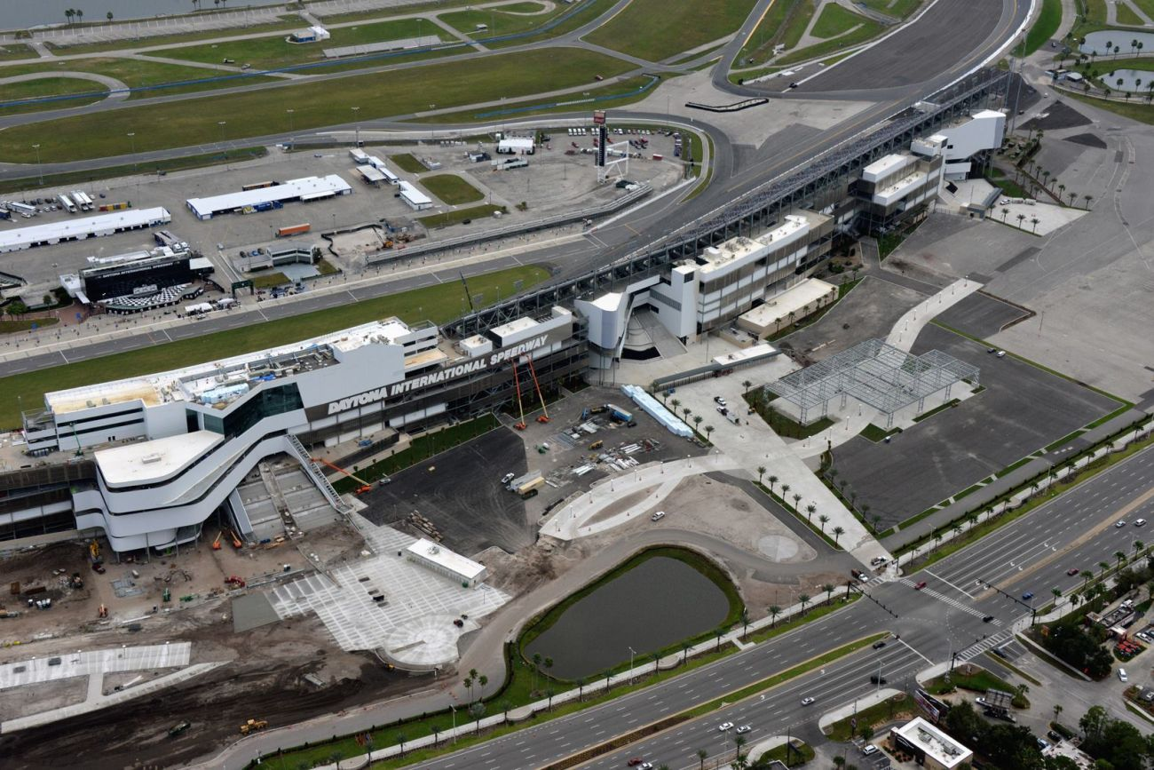 Daytona International Speedway Solar Panels and Sign Installed Daytona Rising Project Photos