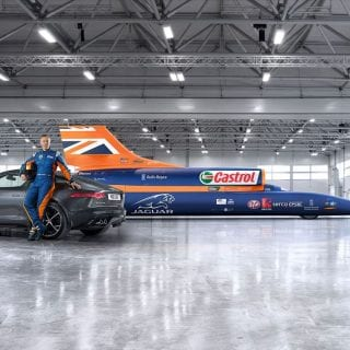Jaguar 1000mph Car Bloodhound SSC Car Land Speed Record Photography