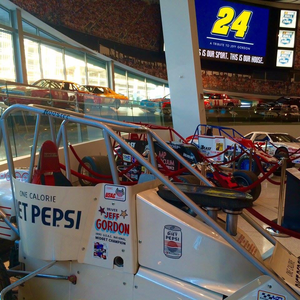 Jeff Gordon NASCAR Hall of Fame Exhibit Dirt Cars