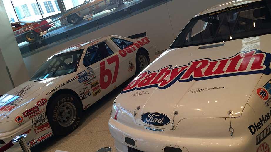 Jeff Gordon NASCAR Hall of Fame Exhibit Jeff Gordon Outback Steakhouse 67 Busch Series