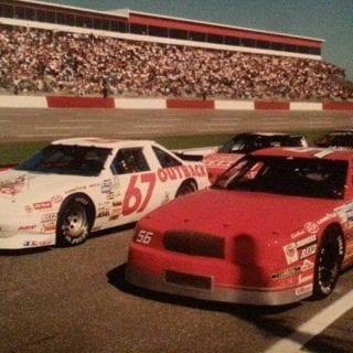 Jeff Gordon NASCAR Hall of Fame Exhibit Jeff Gordon Outback Steakhouse 67 Xfinity Series