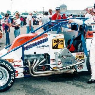 Jeff Gordon NASCAR Hall of Fame Exhibit Jeff Gordon USAC Silver Crown Car Number 4