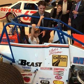 Jeff Gordon NASCAR Hall of Fame Exhibit Jeff Gordon USAC Silver Crown Car Today