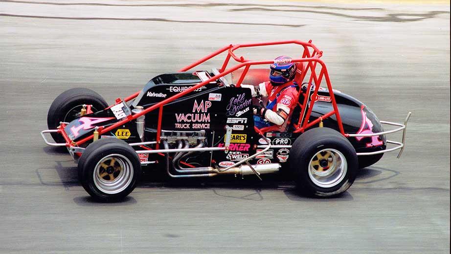 Jeff Gordon NASCAR Hall of Fame Exhibit Jeff Gordon USAC Sprint Car Number 4
