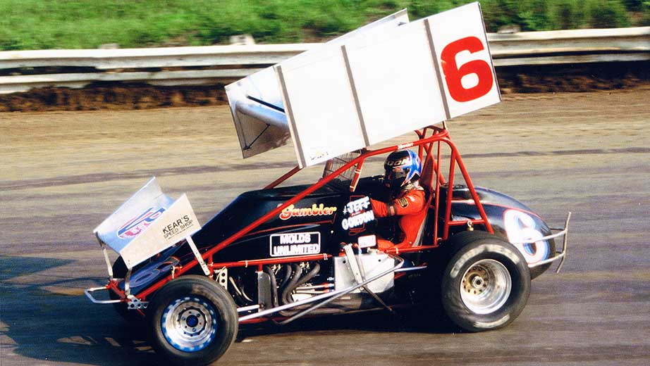 Jeff Gordon NASCAR Hall of Fame Exhibit Jeff Gordon Winged Sprint Car Number 6