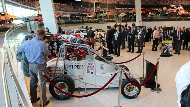 Jeff Gordon NASCAR Hall of Fame Exhibit Open Wheel Cars