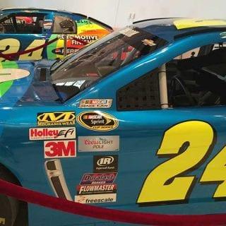 Jeff Gordon NASCAR Hall of Fame Exhibit Photos