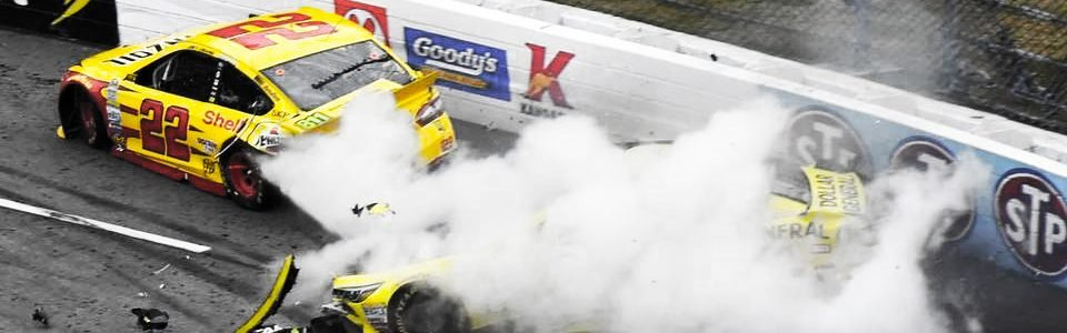 Joey Logano vs Matt Kenseth Wreck At Martinsville Speedway