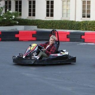 Justin Bieber Races Go Karts on Ellen Degeneres Show Photos