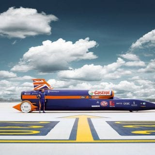 Worlds Fastest Car Bloodhound SSC LandSpeed Photos