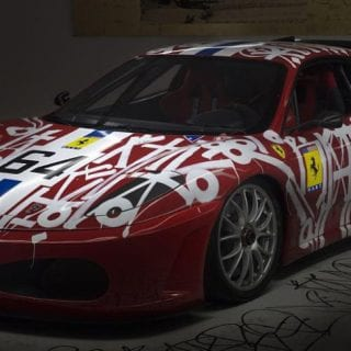 2007 Ferrari Graffiti Art Car - RETNA Art Car Photos