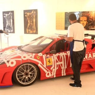 2007 Ferrari turned Art Car - Miami