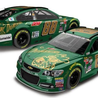 2015 Most Popular NASCAR Diecast Cars - Dale Jr Mountain Dew Dewshine Chevrolet Diecast