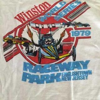 Amy Reimann 1979 Winston World Series Raceway Park shirt