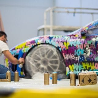 Beny Levy Ferrari Art Car from Ferrari Challenge Series