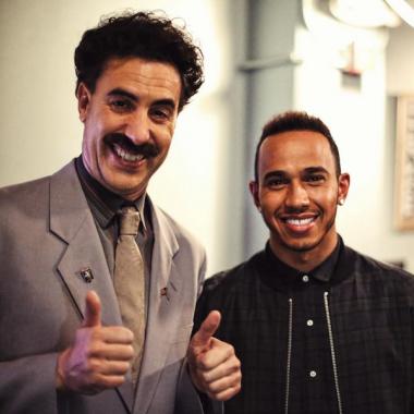 Borat Meets Lewis Hamilton Chocolate Face