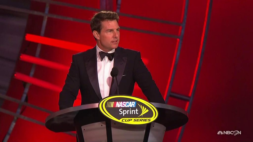 Jeff Gordon Introduced By Tom Cruise At NASCAR Awards Show