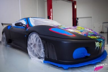 Spray Painted Ferrari Car Photos