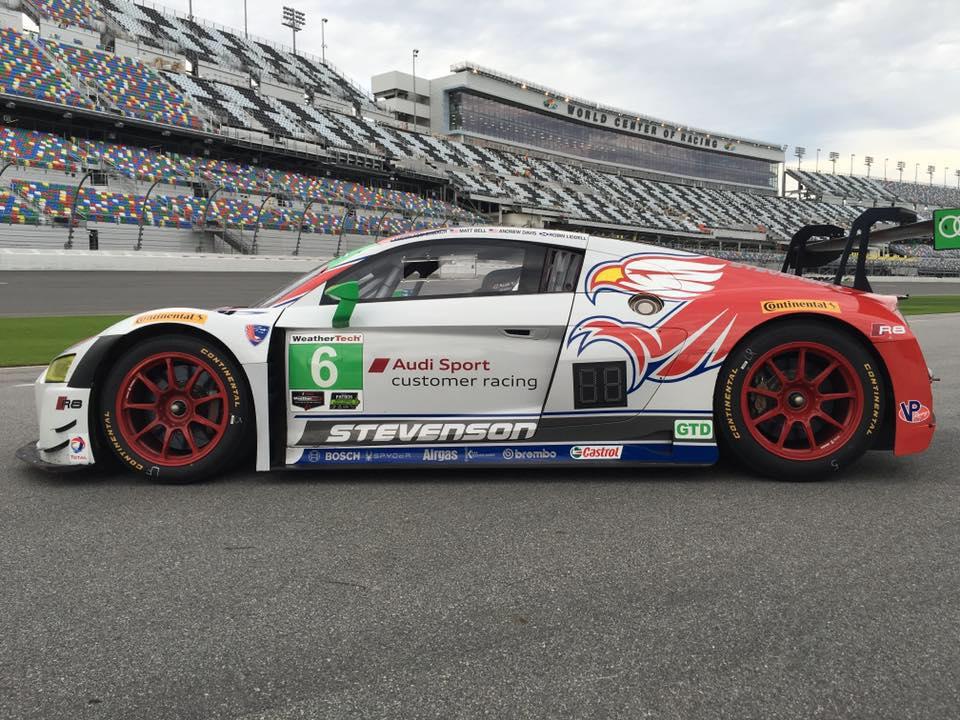 Dion von Moltke Tests Audi R8 with Stevenson Motorsports IMSA