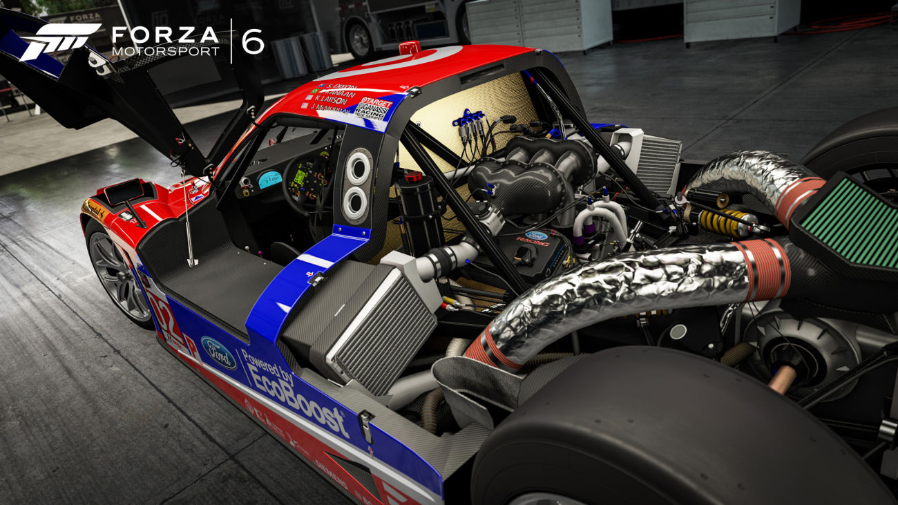 Forza 6 Alpinestars Car Park includes IMSA Machines Chip Ganassi Ford